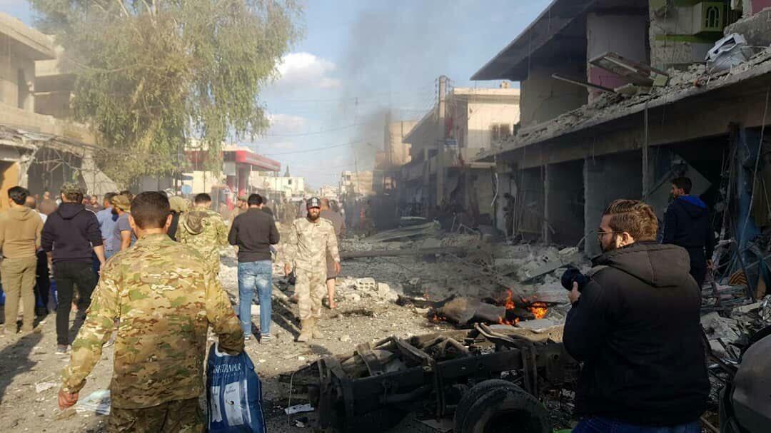 Rojava | Girê Spî'de bombalı saldırı!