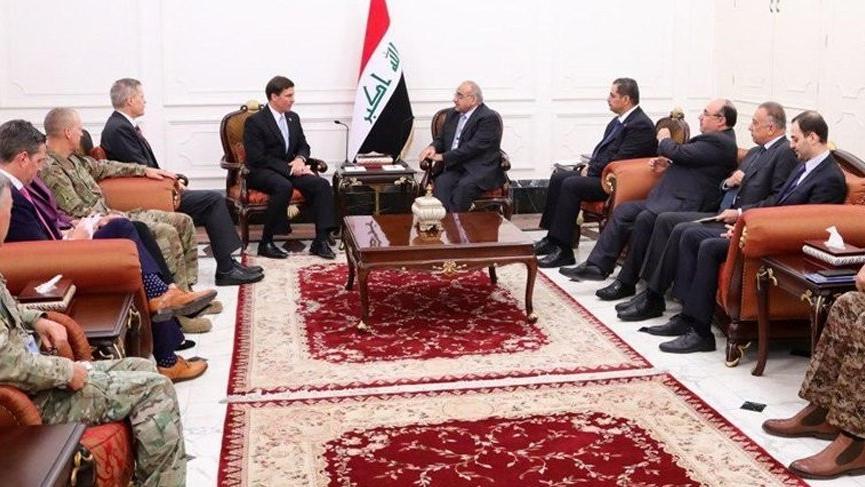 Esper ve Abdulmehdi arasında 'ABD Kuvvetleri' pazarlığı