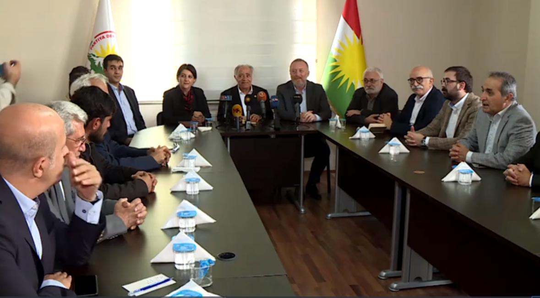 HDP ile Kürt siyasi partilerden Rojava ve Kayyum toplantısı