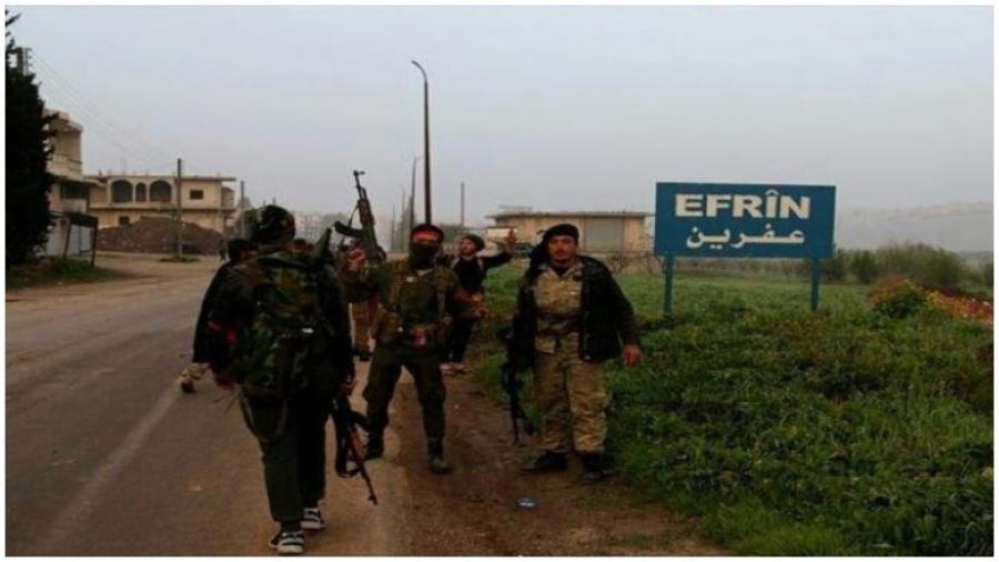 Efrin'de Kürtlere ait 35 eve el koydular