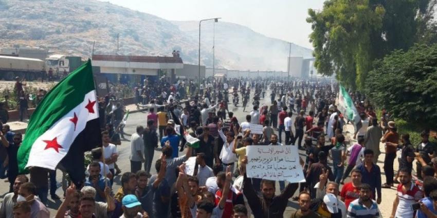 Türkiye sınırında protesto eylemi