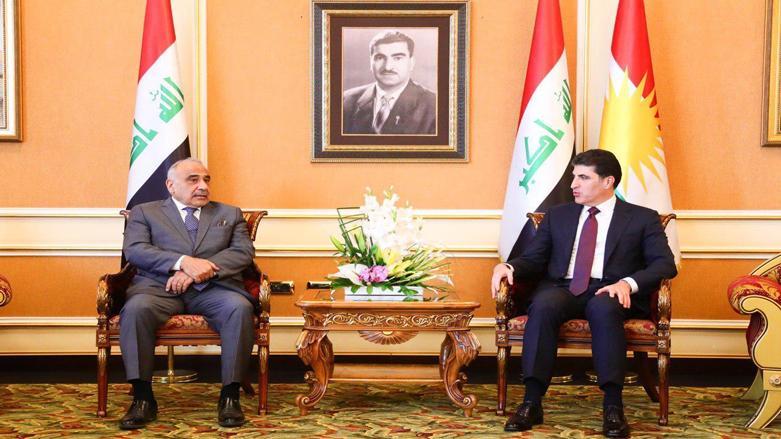Irak Başbakanı Erbil'de Neçirvan Barzani ile görüştü