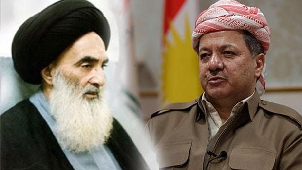 Başkan Barzani'den Şii lider Sistani'ye ilişkin mesaj