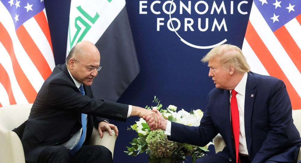 Salih, Trump'la 'Irak'ta yabancı güçler' konusunu görüştü