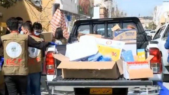 Barzani Vakfı'ndan Süleymaniye'ye Corona desteği