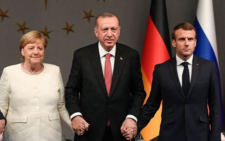 Erdoğan-Merkel-Macron zirvesinde telekonferans kararı