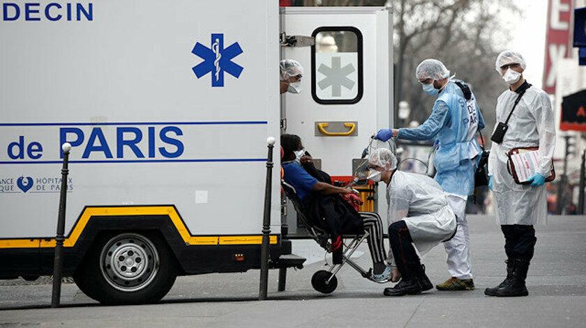 Fransa'da ölü sayısı 1331'e, vaka sayısı 25 bine yükseldi