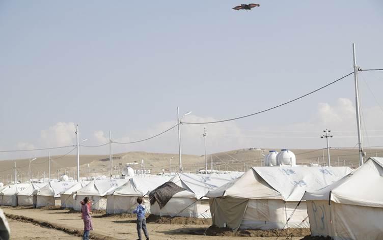 Kürdistan'da bir mülteci kampı karantinaya alındı