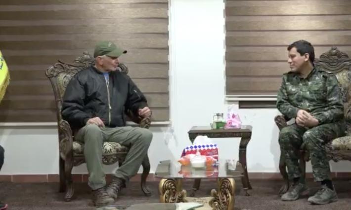 ABD Kongre üyesi Rojava'da Mazlum Abdi ile görüştü