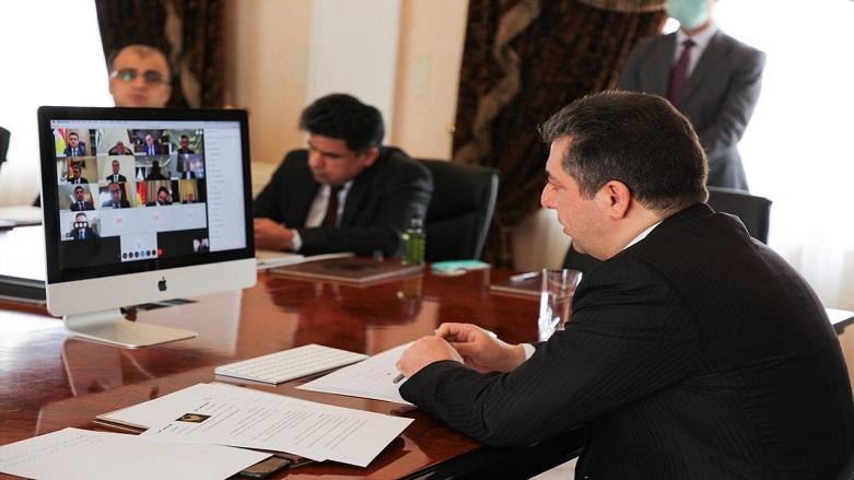 Mesrur Barzani'den Coronavirüs ile mücadele toplantısı