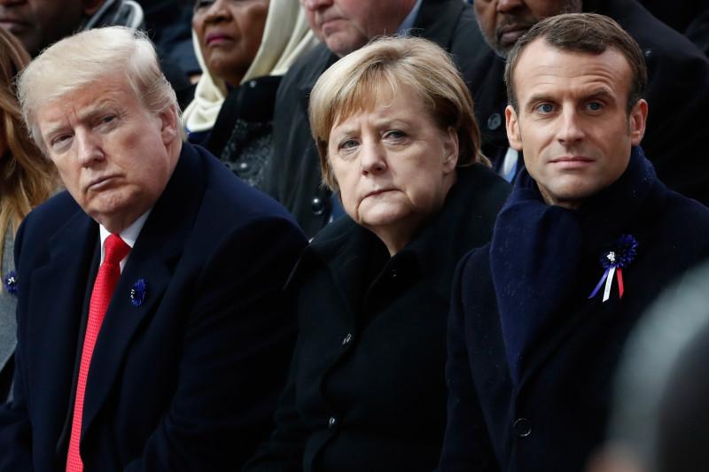 Trump, Merkel, Macron'dan Coronavirüs açıklaması