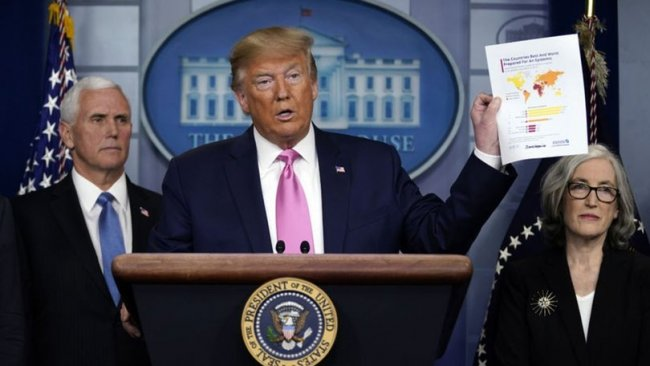 ABD Başkanı Trump'tan koronavirüs açıklaması