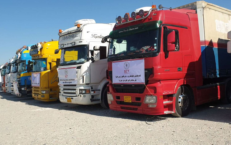 Barzani Yardım Vakfı 9'uncu yardım konvoyunu Rojava'ya gönderdi