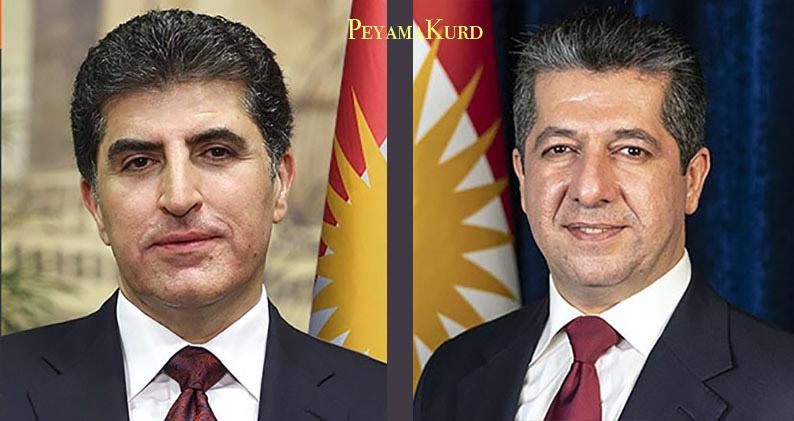 Neçirvan ve Mesrur Barzani'den Kazımi'ye tebrik