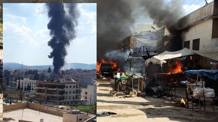 Efrin'de patlama: 4 kişi hayatını kaybetti, çok sayıda yaralı var!