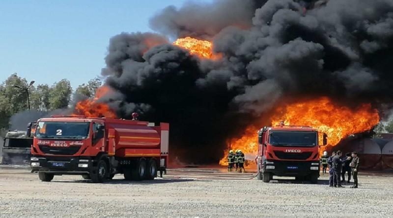 Erbil'de akaryakıt deposunda yangın: 1 ölü
