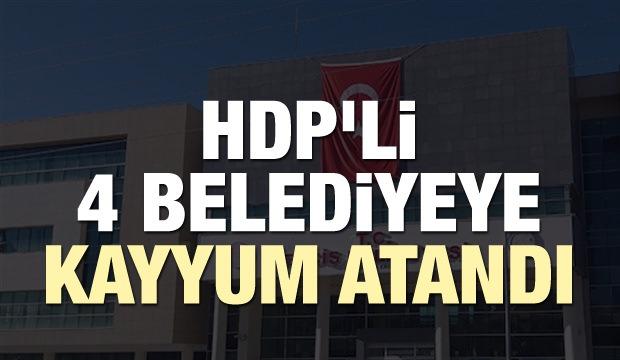 HDP'nin 4 belediyesine daha kayyum