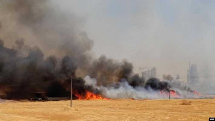 Kürtlerin tarım arazileri yakıldı, Irak güçleri müdahale etmedi