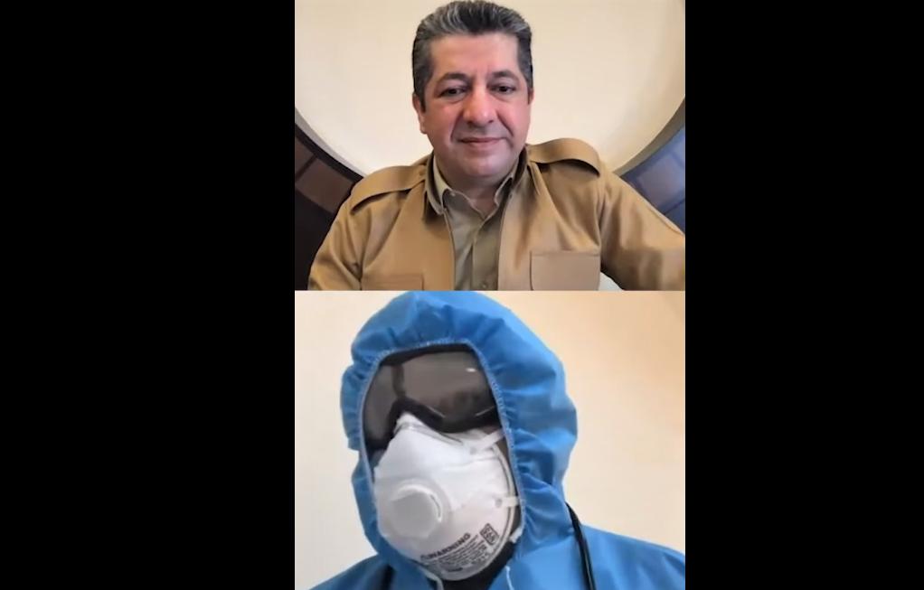 Halepçe | Mesrur Barzani, Covid-19 hastaları ile görüştü