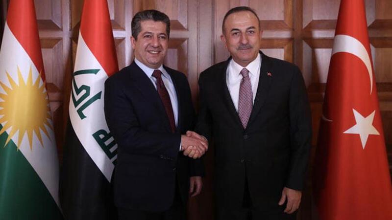 Başbakan Barzani ve Çavuşoğlu ikili ilişkileri görüştü