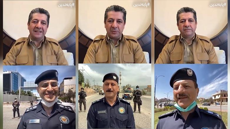 Başbakan, Covid-19 tedbirlerini yürüten Polislerle görüştü