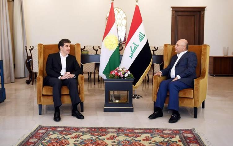 Neçirvan Barzani ve Berhem Salih bir araya geldi