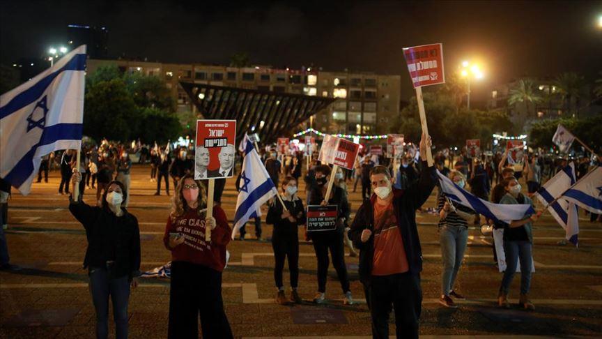 İsrail'de Netanyahu karşıtı protesto: Biz köle miyiz?