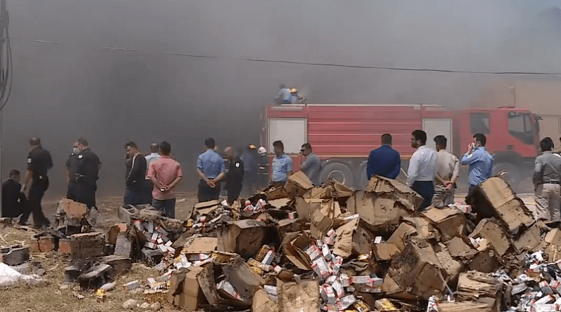 Başkent Erbil'de iki depoda yangın!
